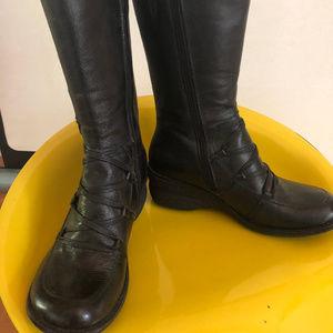 Miz Mooz Olsen black leather boots women's 37 6.5